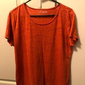 Simple orange tee! Perfect for layering!